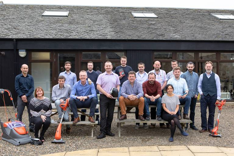 Directors and staff of i4 Product Design at their Edinburgh headquarters