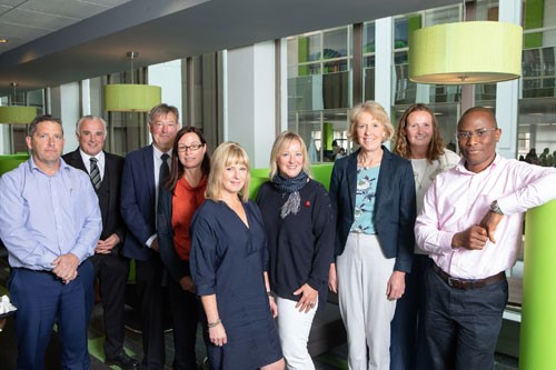 Scottish Enterprise's export advisers L-R: Neil Fraser, Stewart Miller, Alastair Kennedy, Jane Milroy, Stephanie Rennie, Gail MacIntyre, Rosie Letts, Isabelle Henderson, Smart Masoni