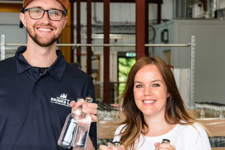 Craig Strachan and Hannah Fisher, co-founders of The Start-Up Drinks Lab